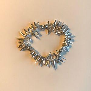 Stella & dot silver spiked bracelet